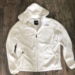 The north Face white Fleece Jacket SZ M